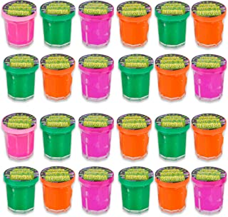 Mini Noise Putty Slime - (Pack of 48) Slime Party Favors Sludge for Kids All Ages, Boys & Girls, Bulk Neon Silly Noise Putty for Goodie Bag Party Supplies
