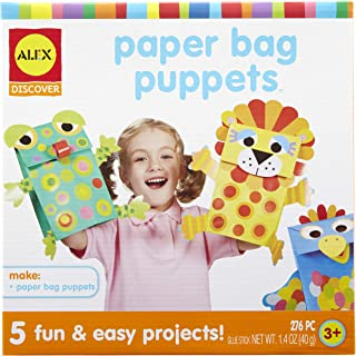 Alex Paper Bag Puppets Kit - 3 Years & Above