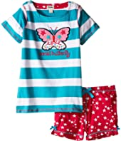 Hatley Kids Electric Butterfly Button Tee & Shorts Set (Toddler/Little Kids/Big Kids)