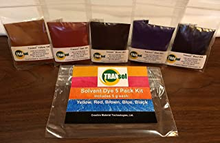 Wood Dye – Powdered Solvent 5 Color Kit – Wood Stain Kit (25 Grams)