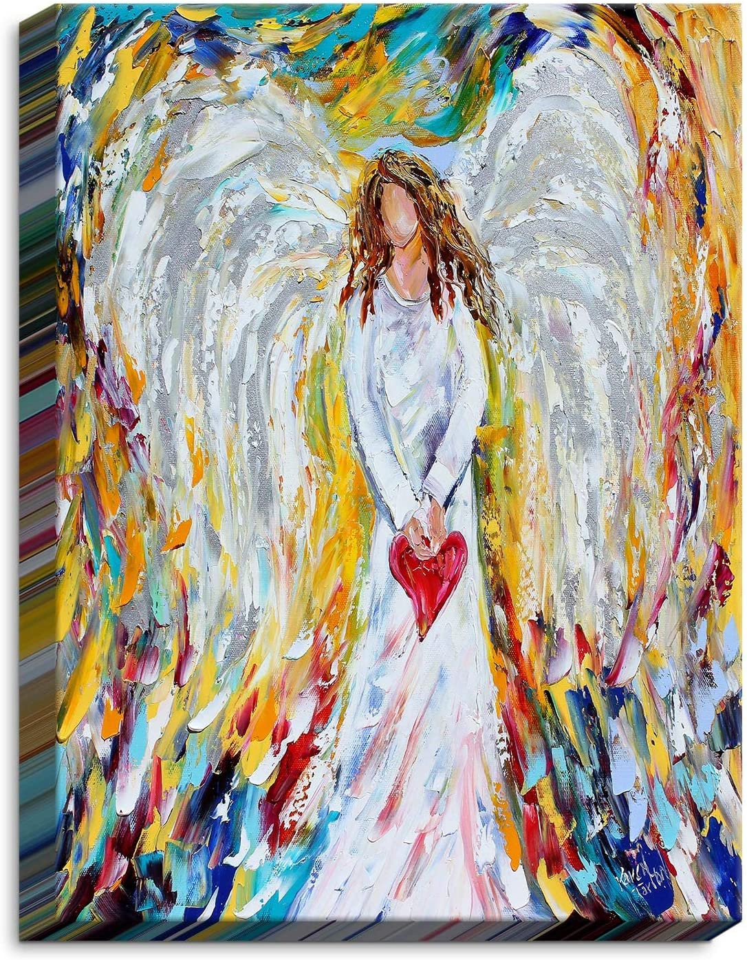 Dia Noche CAN-KarenTarltonAngelofMyHeart3 All items free shipping Limited Special Price Canvas Art Framed Wall