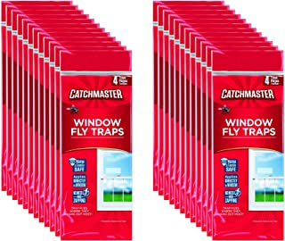 CatchMaster 904-12 Clear Window Fly Trap, 24-Pack