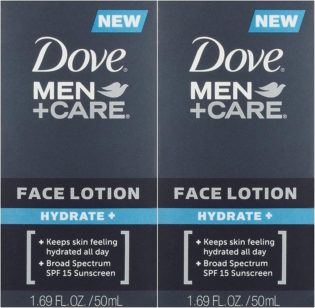 飢え白い洞察力のある【アメリカ発送】 Dove Men+Care Face Lotion, Hydrate+ 1.69 oz ダブ 男性用 フェイスローション 潤い SPF 15 50ml