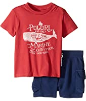 Ralph Lauren Baby - 30s Jersey Graphic Tee Shorts Set (Infant)