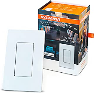 SYLVANIA General Lighting Sylvania Smart+ 78060 Bluetooth in-Wall Switch, Works with Apple HomeKit and Siri Voice Control, No Hub Required, 1 Pack