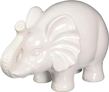 Urban Trends 46618-UT Decorative Ceramic Elephant Large White