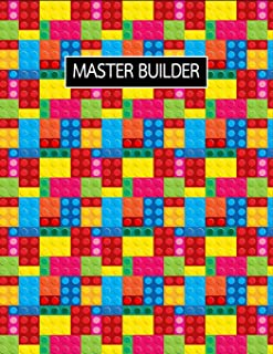 Master Builder: The Unofficial Lego Blocks Large Sketchbook for Doodling, Drawing, Sketching and Writing ~ Funky Novelty Gift for Building Block Lovers