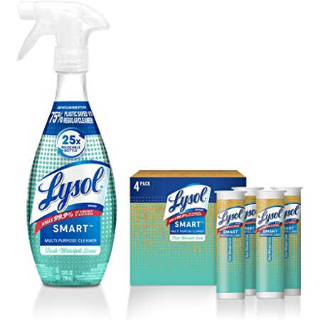Lysol Smart Multi-Purpose Cleaner Kit, Clear, 5 Piece Set, Fresh Waterfall, 1 Count