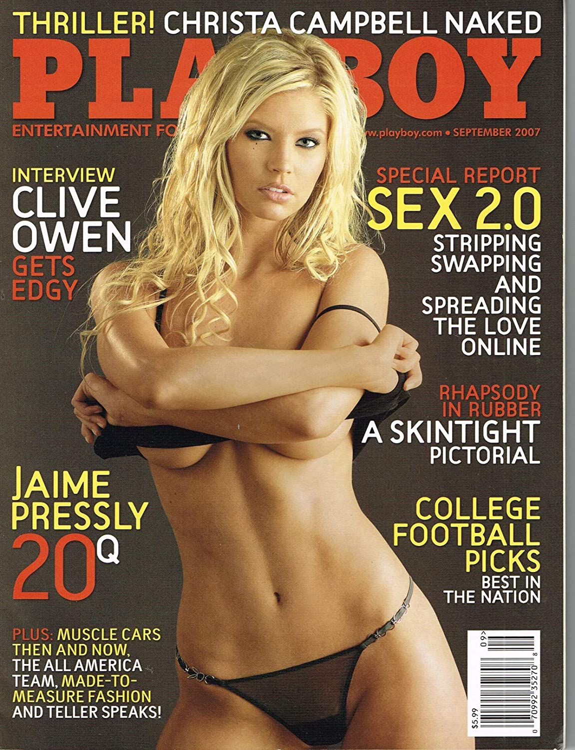 Playboy magazine Volume Price reduction 54 Outlet sale feature no 9 Amanda on 2007 September Paige