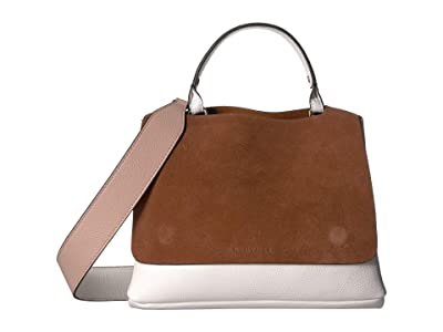 NEUVILLE City Satchel (Marron Suede) Handbags