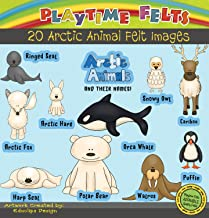 Playtime Felts Arctic Animals and Their Names Felt Set - Uncut