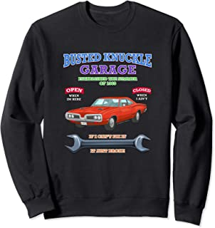 Busted Knuckle Classic Muscle Car Garage Hot Rod Tee Novelty Sweatshirt