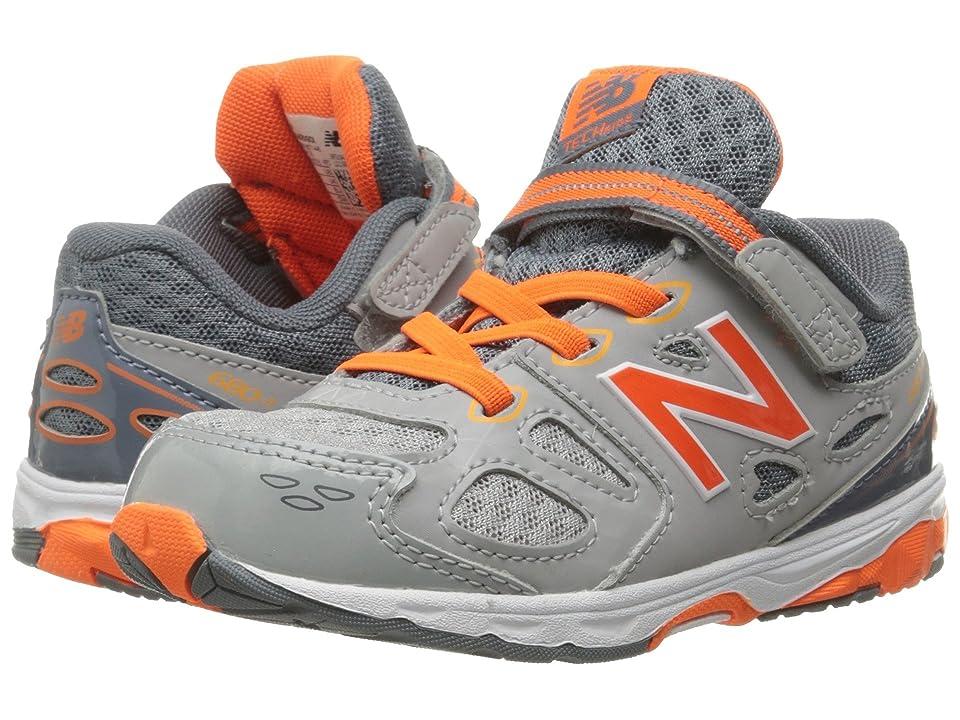 New Balance Kids KA680 (Infant/Toddler) (Grey/Orange) Boys Shoes