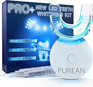Teeth Whitening Kit with LED Light – 2 Syringes of 5ml Professional 35% Carbamide..