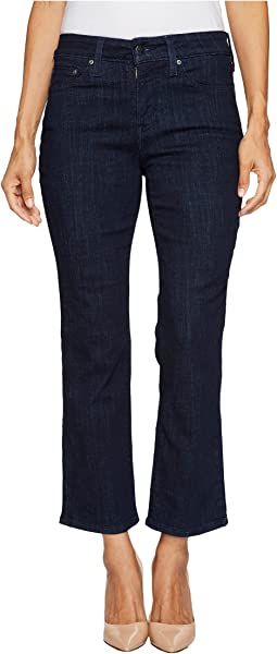Petite Marilyn Straight Jeans in Crosshatch Denim in Rambard