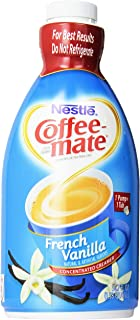 Nestle Coffee Mate Coffee Creamer, French Vanilla bottle with Pump, 50.7 Oz