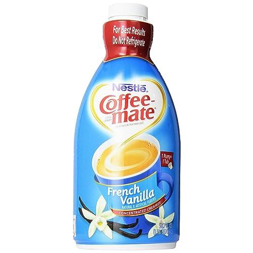 Nestle Coffee Mate Coffee Creamer, French Vanilla bottle with Pump, 50.7 Oz