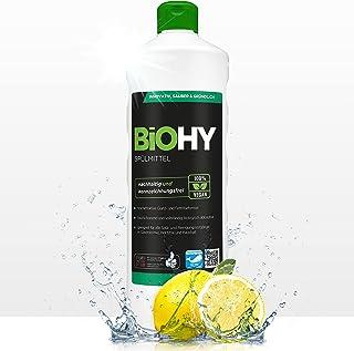 BiOHY Detergent do mycia naczyń (butelka 1l)   Wolne od szkodliwych chemikaliów i biodegradowalne   Formuła nabłyszczająca...