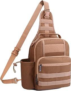 TAIBID Waterproof Sports Single Shoulder Fishing Tackle Bag Backpack or Handbag Crossbody Messenger Sling Bags for Camping...