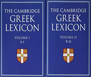 The Cambridge Greek Lexicon 2 Volume Hardback Set