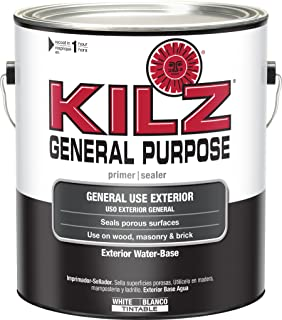 KILZ General Purpose Exterior Latex Primer/Sealer, White, 1 Gallon