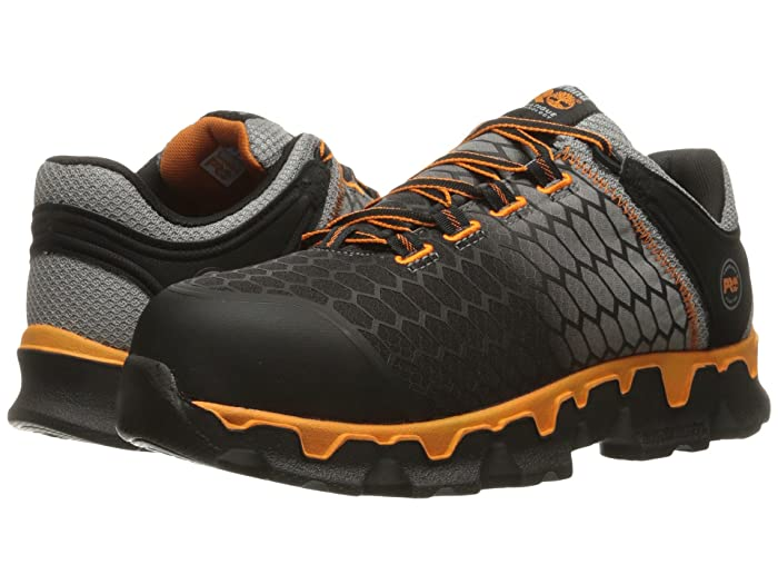 Timberland PRO  Powertrain Alloy Toe SD+ (Grey Synthetic/Orange) Mens Work Lace-up Boots
