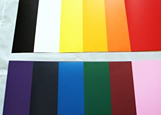 アイロンプリントシート 熱転写ラバーシート プロッターカット用サイズ各種 (20cm×63cm, 01:ブラック)