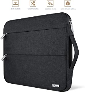Voova 11 11.6 12 Inch Laptop Sleeve Case Cover, Water Resistant Computer Protective Bag Compatible with MacBook Air 11, Mac 12, Surface Pro 6 5 4 3, Acer Asus Chromebook Ultrabook with Handle, Black