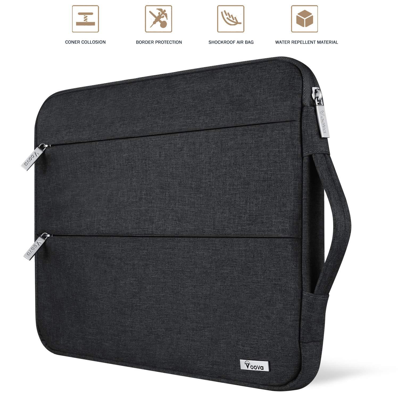 Universal Ropch Universal 15-15.6 Felt Laptop Sleeve Bag Pouch Grey /& Pink