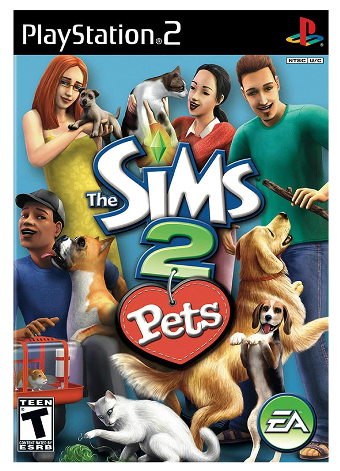 Amazon Com The Sims 2 Pets Playstation 2 Artist Not Provided Video Games