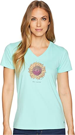 Hello Sunshine Sunflower Crusher Vee Tee