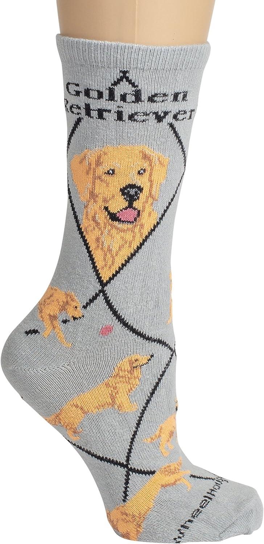 I Love Retrievers Ladies Purple Dog Socks UK Size 4-8 X6N147