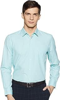 Peter England Men's Checkered Slim fit Formal Shirt (PESFMSLPA91552_Aqua Blue20_40)