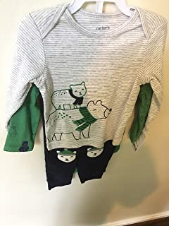 Carter's Baby wear 3 Piece Set 9M /Pants/Navy Blue//Bodysuit/Shirt