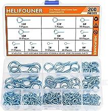 HELIFOUNER 200 Pieces 11 Sizes Zinc Plated Steel Screw Eyes Assortment Kit