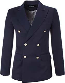 mens navy blue double breasted blazer