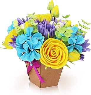 QKIYI Sewing Kits Felt Flower Kits Felt Applique Ornament Kits DIY Felt Kit