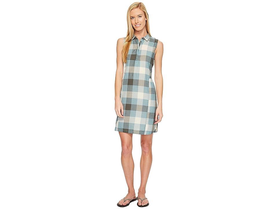 Woolrich Eco Rich Buffalo Shirtdress (Quarry Blue Check) Women's Dress