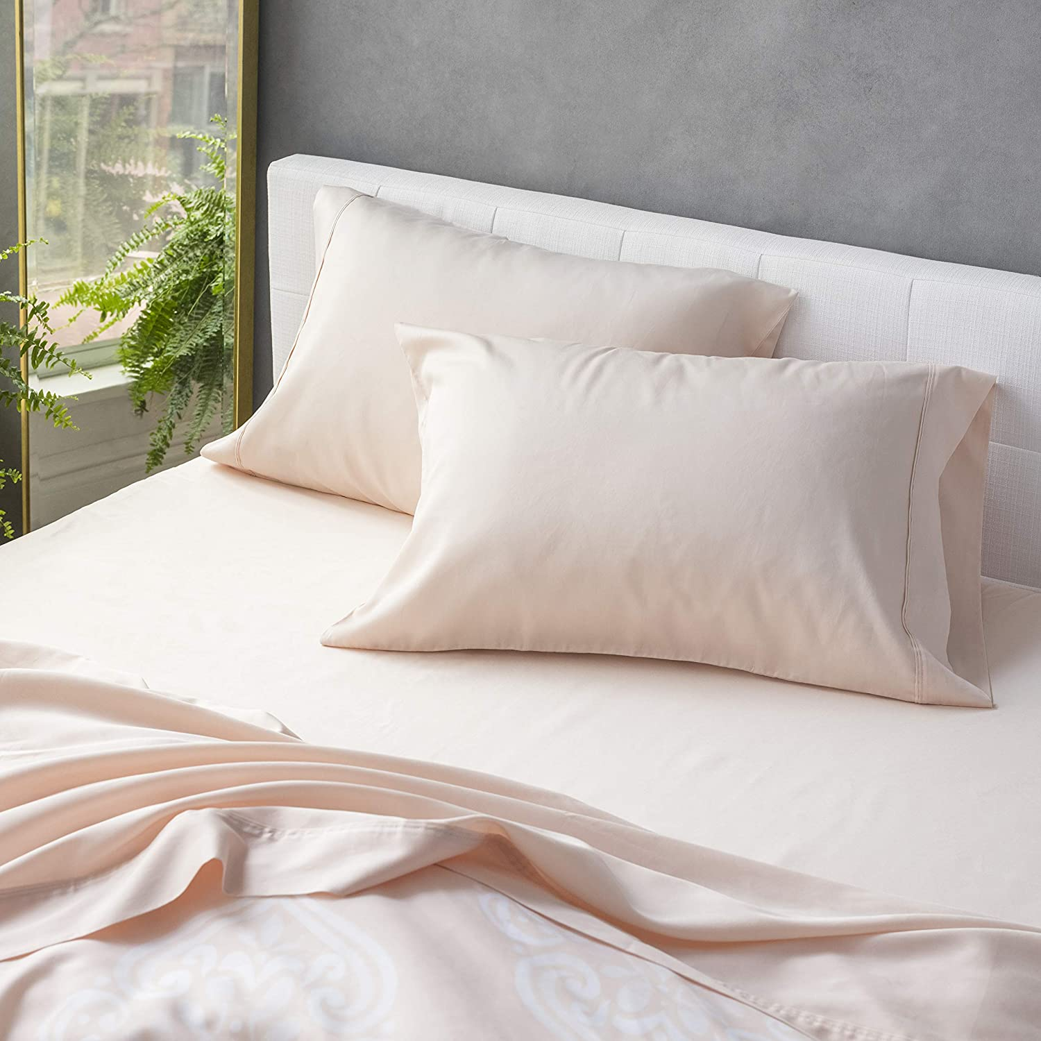Welhome 300 Thread Count Raleigh Mall Twin Tencel Lyocell Sateen Size Cotton Fees free