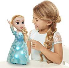 Frozen Snow Glow Elsa Doll - Features Iconic ICY Blue Snowflake Dress - Sings Let It Go - Ages 3+, 14 in
