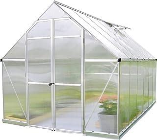 comprar comparacion Palram 7019448x 12ft Esencia Incluye de Efecto Invernadero policarbonato Transparente/Marco de Aluminio/Base–Plateado