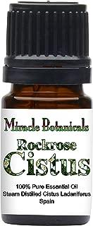 Miracle Botanicals Rockrose Cistus Essential Oil - 100% Pure Cistus Ladaniferus - Therapeutic Grade - 5ml