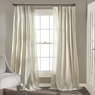 Lush Decor Rosalie Window Curtains Panel Set for Living, Dining Room, Bedroom (Pair),..