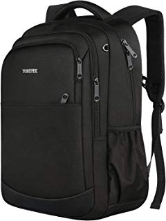 Travel Backpack,Unisex Classic Lightweight Water Resistant School Backpack Casual Daypack Students Bookbag Schoolbag for Middle High School Student Black