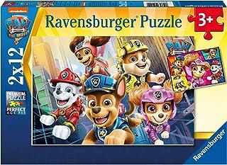 Ravensburger 4005556051519 Puzzles 2x12 pièces - Nos sauveteurs à Quatre pattes/Pat'Patrouille, le Film Children's