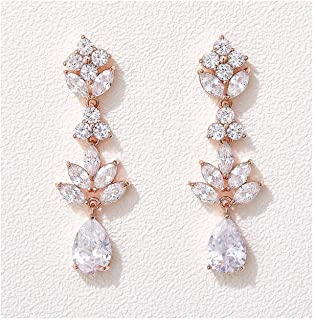 Bridal Earrings ANNIE Bridal Jewelry Rose Gold Rose Gold Wedding Earrings Rose Gold Earrings