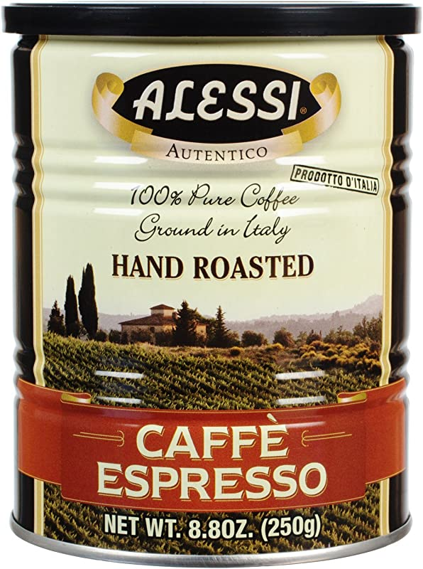 Alessi Espresso Ground Coffee 8 8 Ounce Cans Pack Of 6