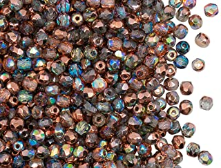 Bohemian Spacer Beads  Boho Accent Beads  Rustic Jewelry Supply 30 Czech Glass 3x5mm Faceted Rondelle Silver Mercury Finish