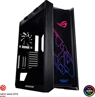 Asus ROG Strix Helios GX601 RGB Mid-Tower Computer Case for up to EATX Motherboards with USB 3.1 Front Panel, Smoked Tempered Glass, Brushed Aluminum and Steel Construction, and Four Case Fans