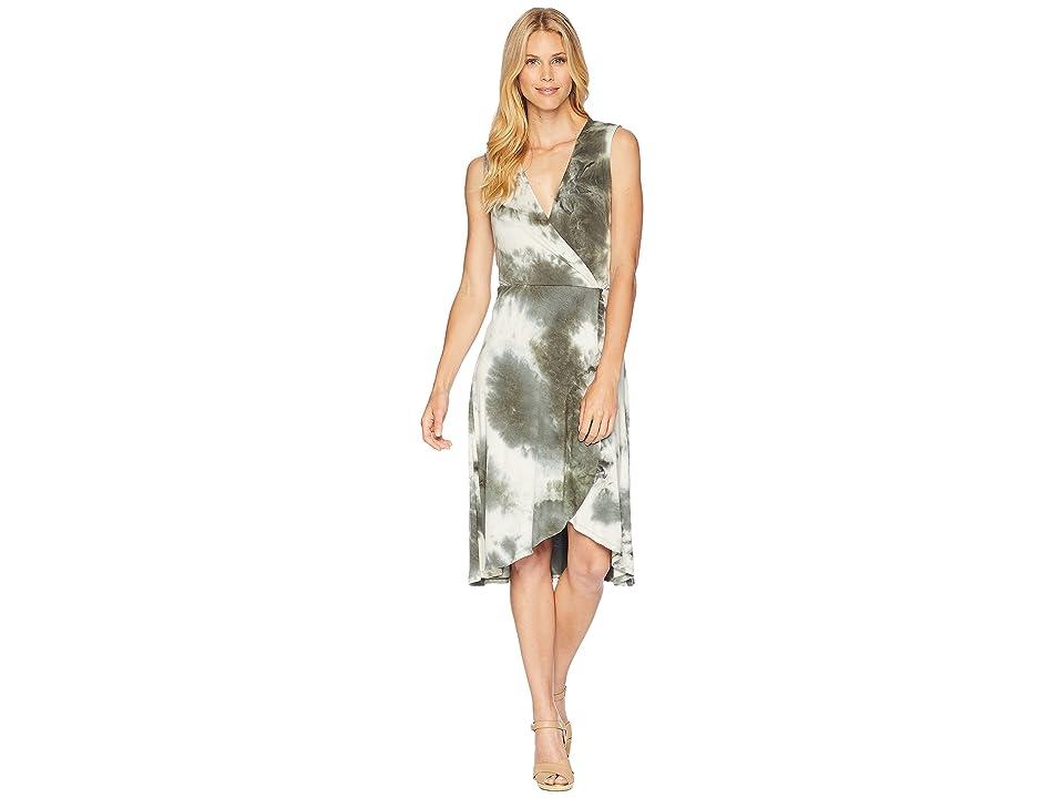 B Collection by Bobeau Rowan Wrap Dress (Olive Tie-Dye) Women
